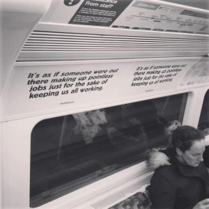 david graeber pointless jobs tube poster