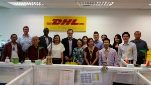 Course delegates at a site visit to the DHL HR Shared Service Centre in Kuala Lumpur, 2016